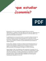 Porque Estudiar Economía