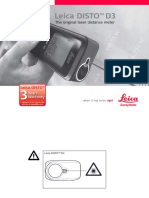 Manual Laser Leica DISTO D3