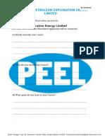 Peel Interview Questt