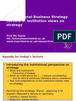 Institutions and Strategy(1)