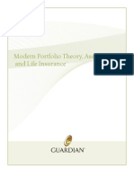 Modern Portfolio Theory, Asset Classes, and Life Insurance