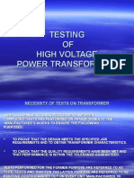 Testing of Power Transformers