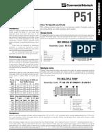 P 51B Single Pump Commercial Intertech (Catalog)