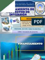 Financiamiento de Proyectos de Inversión