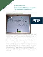 Educación Sexual en El Ecuador