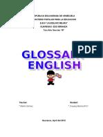 Glosario de Ingles