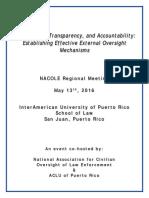 NACOLE San Juan Regional Training Conference