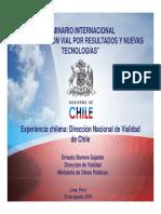 Ing_ Ernesto Barrera -Experiencia Chilena_ Dirección Nacional de Vialidad de Chile [Modo de Compatibilid