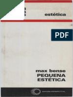 BENSE, Max. Pequena Estética