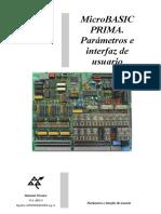 MBAS PRIMA_ES. Parámetros e Interfaz de Usuario