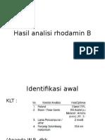 Hasil Analisi Rhodamin B