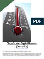 Termómetro Digital Remoto (Domótica)