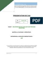 IPMVP - Option - Presentation Recuperation Chaleur