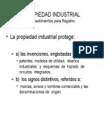 PROPIEDAD INDUSTRIAL-Procedimientos Para Registro