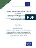 Llamado a Presentacion de Resultados CEPAL 2015