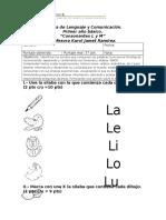 Prueba de Lenguaje y Comunicación l y m