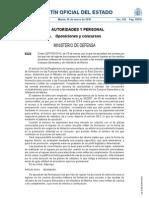 Orden DEF/792/2010, de 25 de marzo, por la que se aprueban las normas por las que han de regirse los procesos de selección para el ingreso en los centros docentes militares de formación
