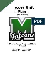 soccer unit plan  hs