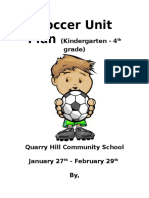 pe practicum soccer unit plan  elementary