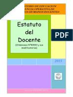 Estatuto Docente Argentino Feb 2015