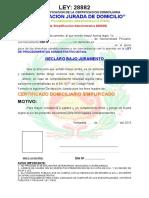 Declaracion Jurada de Domicilio Completa Sin Rellenar a Colores Con Fondo3