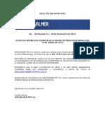 Boletín Informativo Infovalmer 104