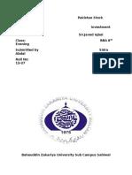 Assignment Pakistan Stock Exchange p