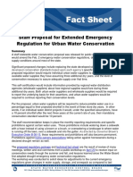Staff Proposal for Extended Emergency Regulation for Urban Water Conservation