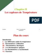 Chp II- Les Capteurs de Temperature