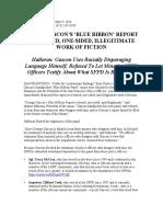 Blue Ribbon Panel Press Release