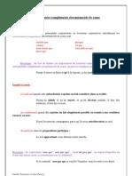 SUBORDONNÉES COMPLÉMENTS CIRCONSTANCIELS DE CAUSE