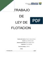 Trabajo Ley de Flotacion