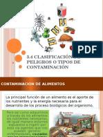 3.4 Clasificación de Peligros o Tipo de Contaminación