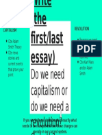 write  the first-last essay   do we need capitalism or do we need a revolution- or both-