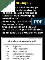 El Lenguaje c