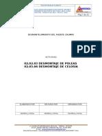 02.02.03 y 02.03.06 Desmontaje de Poleas y Celosia