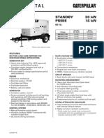 Caterpillar XQ20 Towable Diesel Generator Set