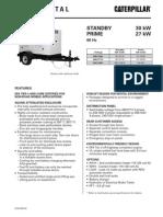 Caterpillar XQ30 Towable Diesel Generator Set