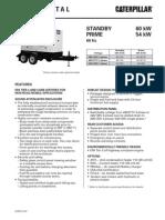 Caterpillar XQ60 Towable Diesel Generator Set