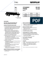 Caterpillar XQ80 Towable Diesel Generator Set