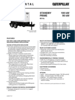 Caterpillar XQ100 Towable Diesel Generator Set
