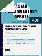 Asian Parliamentary Debate