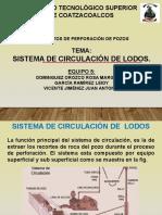 SISTEMA DE CIRCULACIÓN DE LODOS.