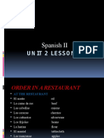 spanish ii unit 2 lesson 3 ppoint