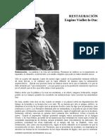 Viollet Le Duc Voz Restauration