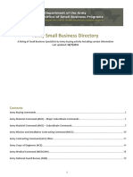 Army Small Business Directory