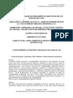 AGRICULTURA, MEIO AMBIENTE E DESENVOLVIMENTO SUSTENTÁVEL