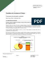 Avance Estadísticas Accidentes de Trabajo en España 2014