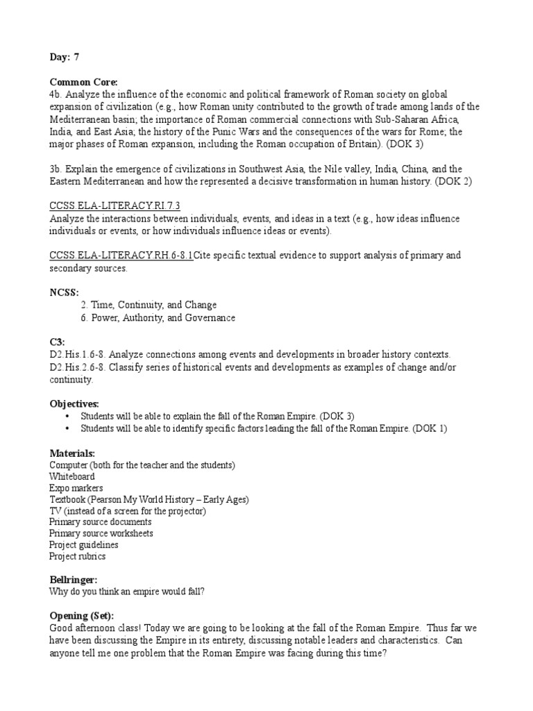 primary source lesson Roman Empire – Primary and Secondary Sources Worksheet