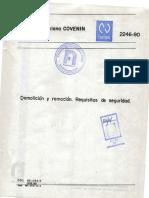Norma 2246-90, Demolicion y Remocion- Requisitos